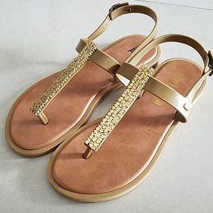 Melissa Gold Star Sandals sz 6